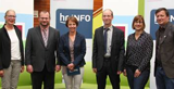 v.l.n.r.: Dr. h.c. B. Heraeus, T. Larbig, P. Boberg, Prof. Dr. Ch. Schreiber, I. Brehl, R. Runkel